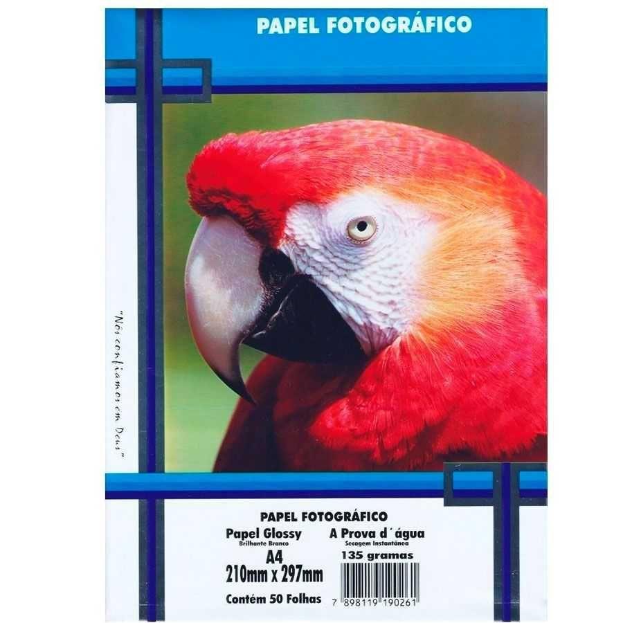 Papel fotográfico 135g c/50 folhas