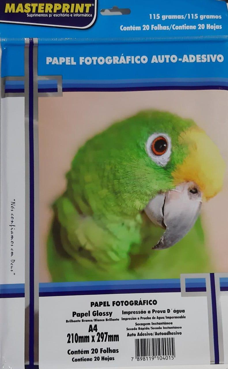 Papel fotográfico auto-adesivo 115g c/20 folhas