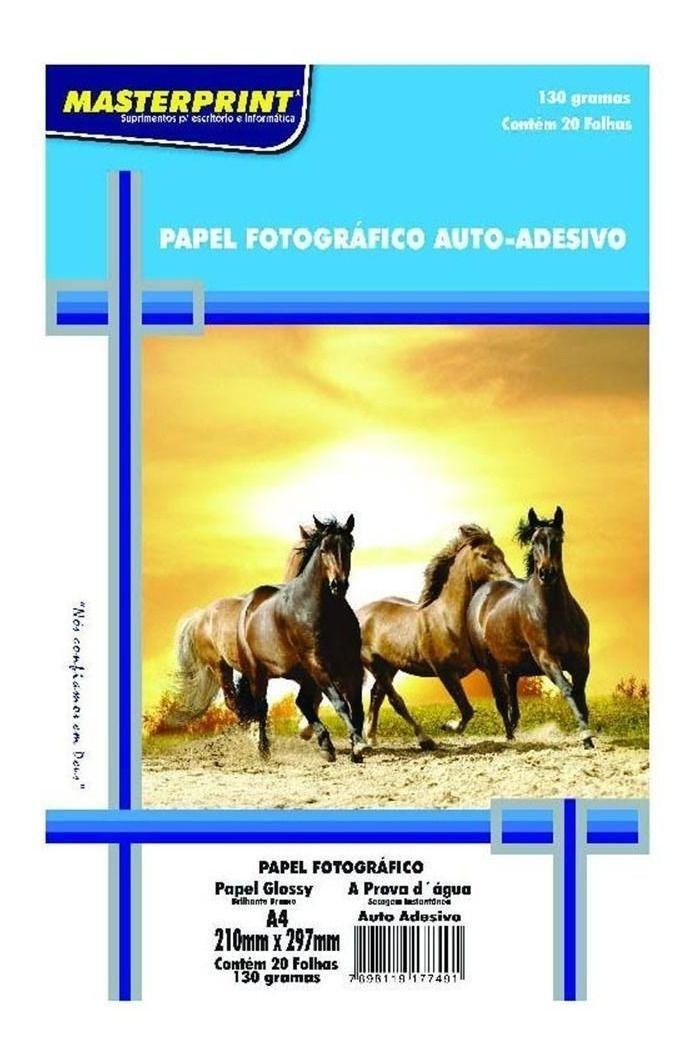 Papel fotográfico auto-adesivo 130g c/20 folhas