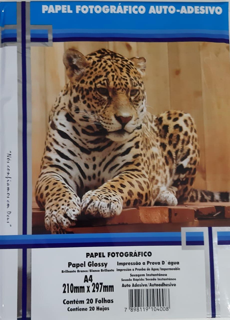 Papel fotográfico auto-adesivo 80g c/20 folhas