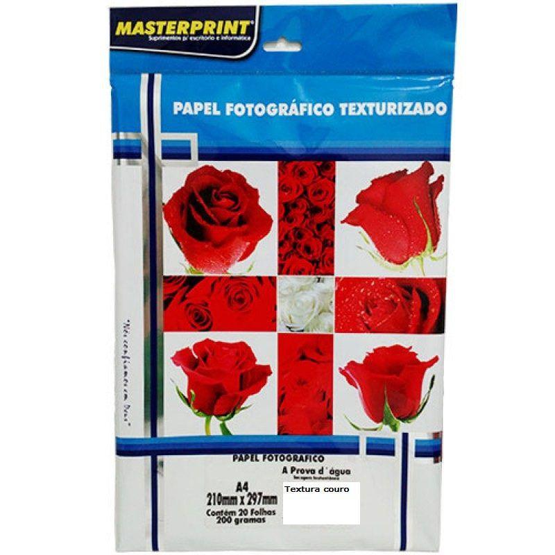 Papel fotográfico textura Couro 200g c/20 folhas