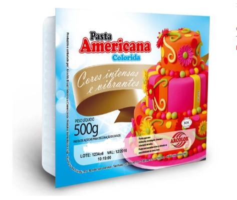 Pasta Americana azul bebe 500g Arcolor
