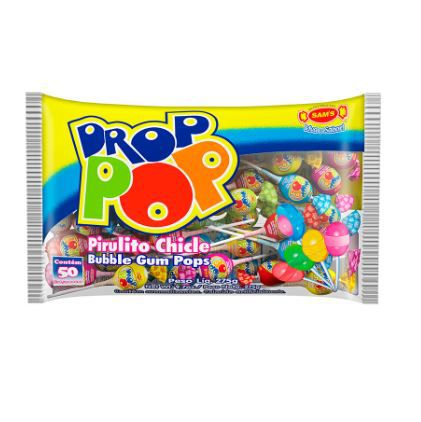 PIRULITO DROP POP COM CHICLETE 275G - SAM`S