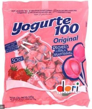 Pirulito Mastigável Yogurte 100 Original 525g