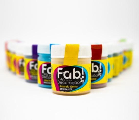 Pó para decoração Amarelo gema Fab! 3g