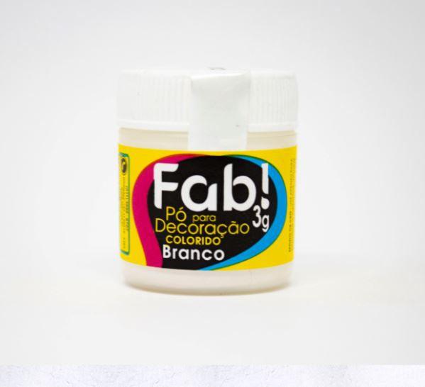 Pó para decoração Branco Fab! 3g