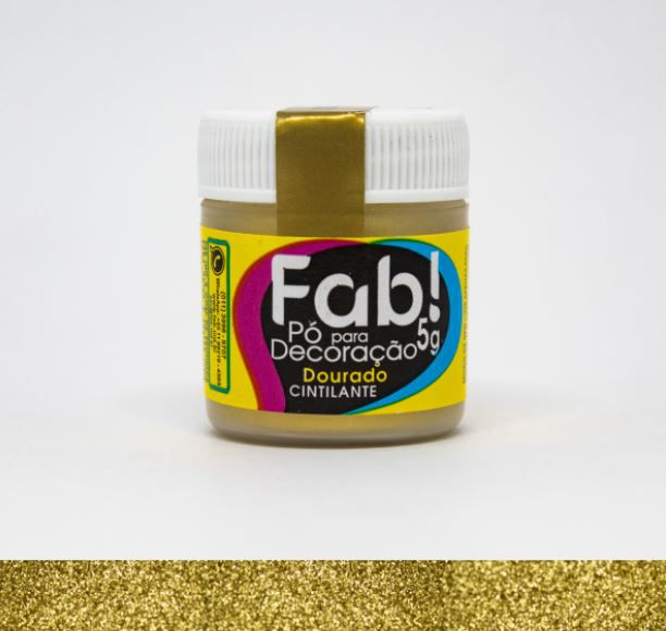Pó para decoração Dourado Fab! 5g