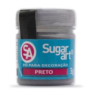 Pó para decoração Preto 3g Sugar Art