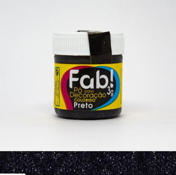 Pó para decoração Preto Fab! 3g