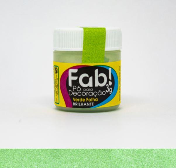Pó para decoração Verde folha Fab! 3g