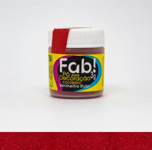 Pó para decoração Vermelho natal Fab! 3g