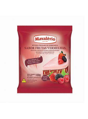 Pó para Preparo de Sobremesa Sabor Frutas Vermelhas 100g