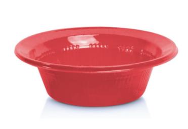 Prato descartavel fundo Vermelho 15cm 10und