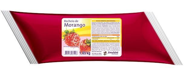 Recheio de morango 1,01kg Emulzint