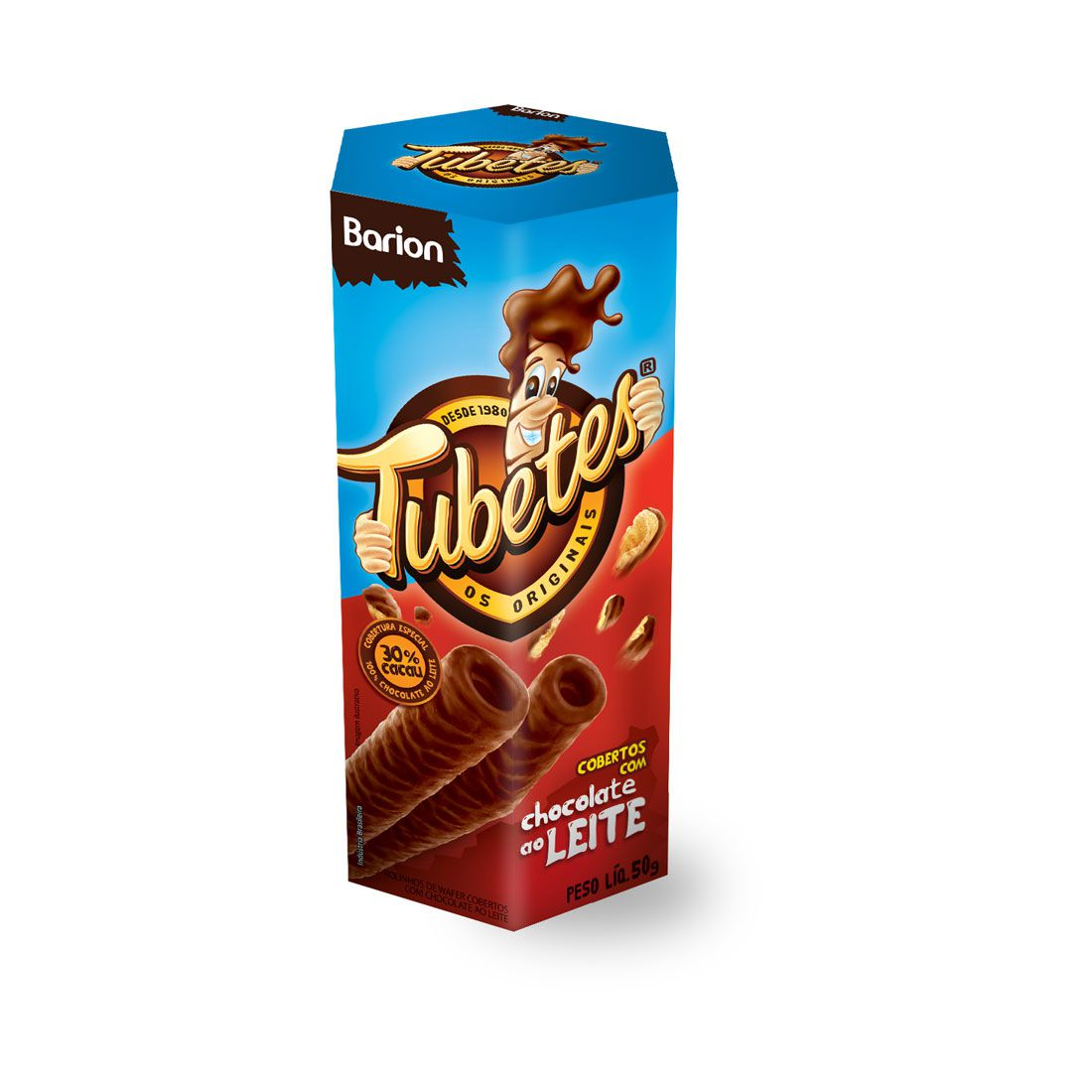 Tubetes – chocolate ao leite Coberto - 50g