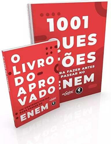 Livro 1001 Questões Para No Enem + O Livro Do Aprovado No Concurso  - LIVRARIA ODONTOMEDI
