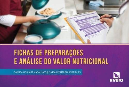 Livro Fichas De Preparações E Análise Do Valor Nutricional  - LIVRARIA ODONTOMEDI