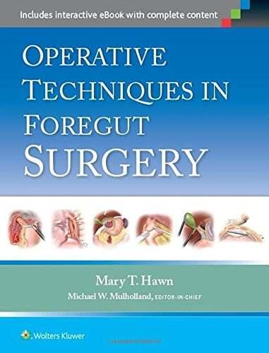 Livro Operative Techniques In Foregut Surgery  - LIVRARIA ODONTOMEDI