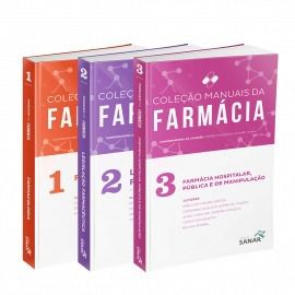 Coleção Manuais da Farmácia para Concursos e Residências (Volumes 1,2 & 3)  - LIVRARIA ODONTOMEDI