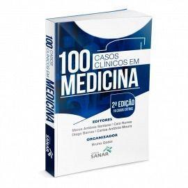 Livro 100 Casos Clínicos Em Medicina - Esquematizados E Comentados  - LIVRARIA ODONTOMEDI