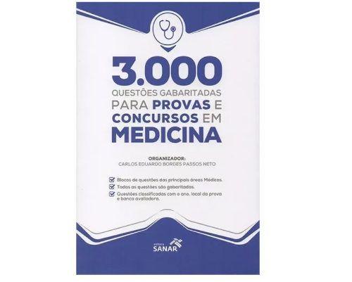 Livro 3.000 Questões Gabaritadas Provas E Concursos Em Medicina  - LIVRARIA ODONTOMEDI