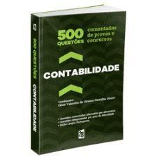 Livro 500 Questões Comentadas De Provas E Concursos Em Contabilidade  - LIVRARIA ODONTOMEDI