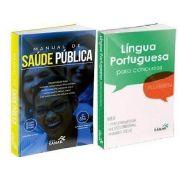 Combo Manual De Saúde Pública E Língua Portuguesa Para Concursos