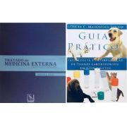 Combo Tratado De Medicina Externa Dermatologia Veterinária e Guia Prático Coleta E Interpretação de Exames Laboratoriais em Cães e Gatos
