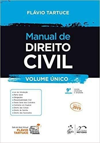 Livro Manual De Direito Civil - Volume Único  - LIVRARIA ODONTOMEDI