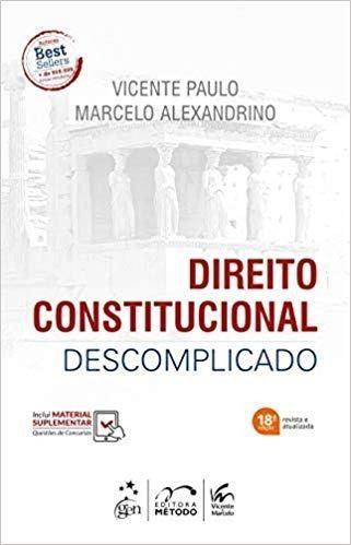 Livro Direito Constitucional Descomplicado  - LIVRARIA ODONTOMEDI