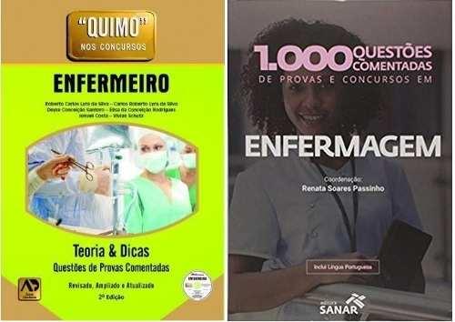 Livro Quimo - Enfermeiro (Com Cd-Rom) Novo + 1.000 Questões Comentadas De Provas, Concursos Em Enfermagem  - LIVRARIA ODONTOMEDI