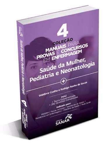 V4 - Coleção Manuais Para Provas E Concursos Em Enfermagem  - LIVRARIA ODONTOMEDI