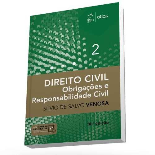 Direito Civil Obrigações E Responsabilidade Civil V2 Venosa  - LIVRARIA ODONTOMEDI
