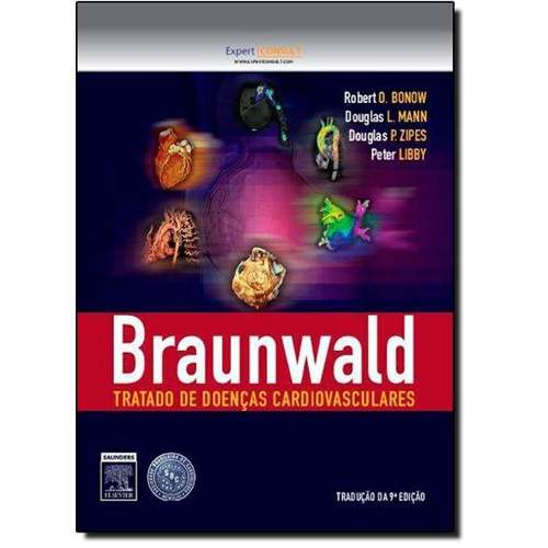 Braunwald Tratado De Doenças Cardiovasculares - 2 Volumes  - LIVRARIA ODONTOMEDI
