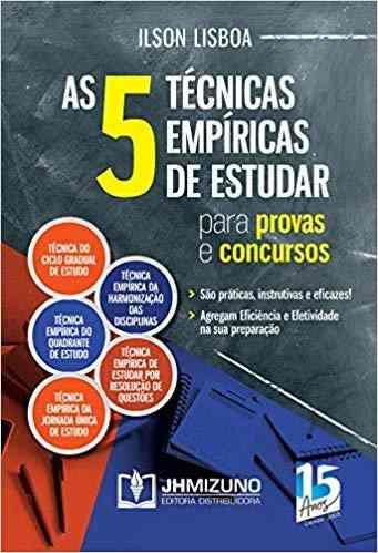 Livro As 5 Técnicas Empíricas De Estudar Para Provas E Concursos  - LIVRARIA ODONTOMEDI