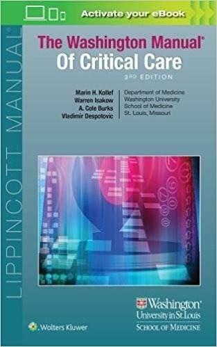 Livro The Washington Manual Of Critical Care  - LIVRARIA ODONTOMEDI