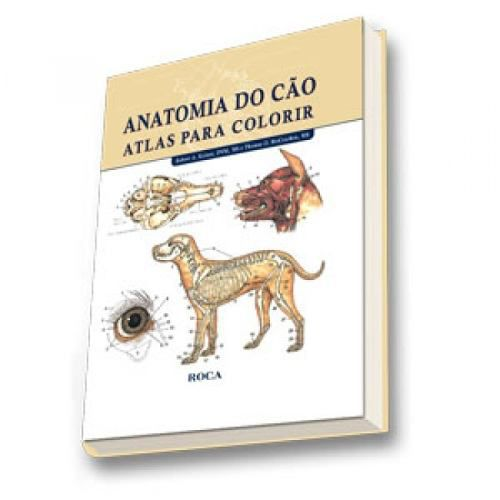 Livro Anatomia Do Cão - Atlas Para Colorir  - LIVRARIA ODONTOMEDI