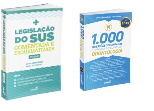 Combo Legislação Do Sus Comentada Esquematizada E 1000 Questões Comentadas Em Odontologia  - LIVRARIA ODONTOMEDI
