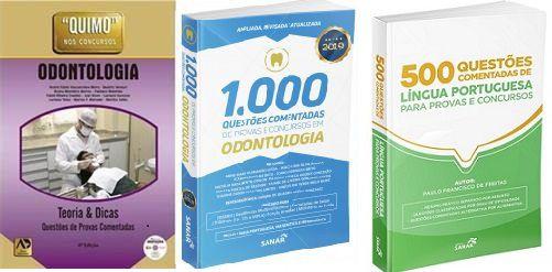 Combo Quimo Odonto, 1000 Questões Em Odonto E 500 Questões Comentadas De Língua Portuguesa  - LIVRARIA ODONTOMEDI