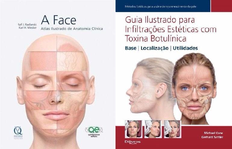 Livro A Face + Guia Ilustrado Para Infiltrações Estéticas Co  - LIVRARIA ODONTOMEDI