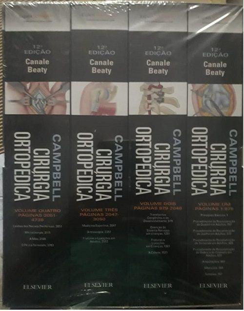 Livro Cirurgia Ortopédica De Campbell Canal 4 Volumes  - LIVRARIA ODONTOMEDI