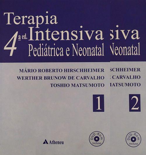 Livro Terapia Intensiva Pediátrica E Neonatal Com DVD Rom  - LIVRARIA ODONTOMEDI