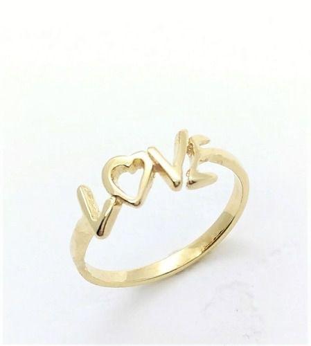 Anel Love Banho Ouro 18k 3423