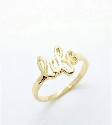 Anel Life Banho Ouro 18k 3421
