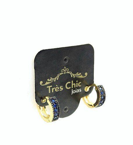 Brincos Argolas Microzirconias Coloridas Banho Ouro 18k 3208
