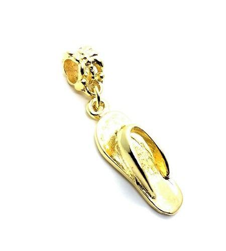 Pingente Berloque Chinelinho Banho Ouro 18k 3193