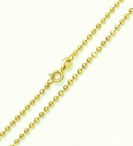 Corrente Cordão De Bolinhas 2,3mm 50cm Banho De Ouro 18k 3170