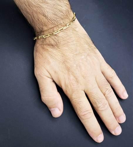 Pulseira Elos 20cm Banho Ouro 18k 2573