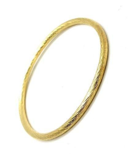 Bracelete Tubular Escovado Banhado 3106