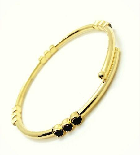 Bracelete Flexível Banho Ródio Negro 3099